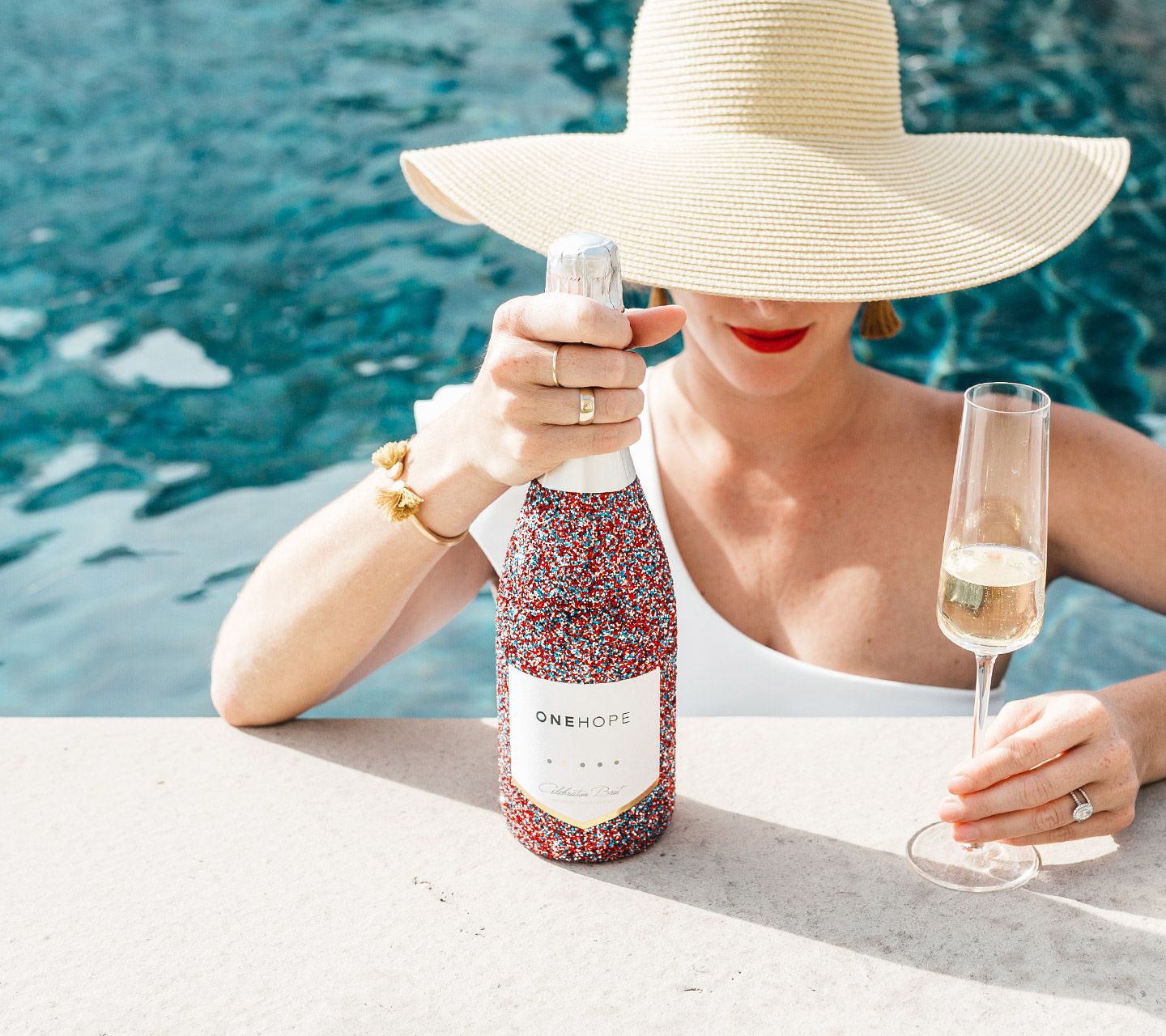 Shop our all new Red, White, and Blue Glitter Celebration Brut!
