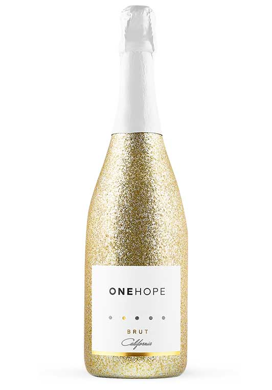 California Brut Sparkling Wine Gold Shimmer Edition