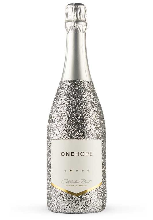 California Celebration Brut Sparkling Wine Silver Glitter